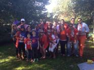 First Clemson Tailgate Reunited with the tribal framily for the Clemson/Syracuse Homecoming Game. It was simply joyful (and anything but dull)! I pulled out some Parkview H.S. gear to channel my inner Clemson Tiger! Loving Divo in the back, resting his elbow on Little Bit.  Rag tag bunch, we are indeed!
